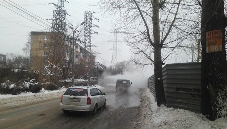 Жилые дома на Рабочей в Томске временно остались без тепла из-за ДТП