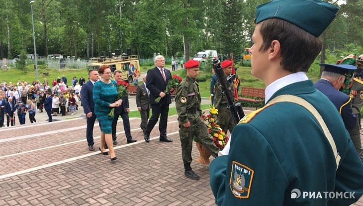 Мэр Томска принял участие в траурных мероприятиях, посвященных Дню памяти и скорби